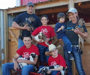 Family and Goats